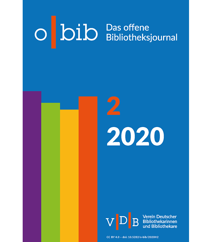 Cover der o-bib Ausgabe 02-2020